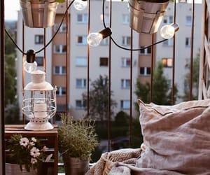 balcony, books, and cozy image