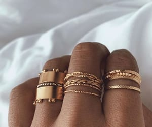 rings, jewelry, and gold image