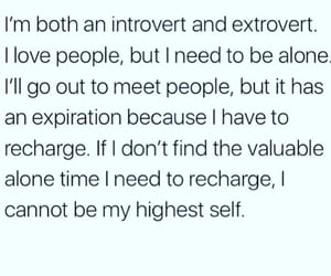 alone, introvert, and extrovert image