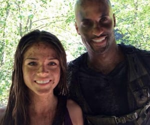 the 100, lincoln, and marie avgeropoulos image