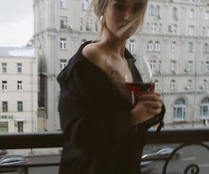 girl and wine image