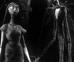 black and white, dark, and tim burton image