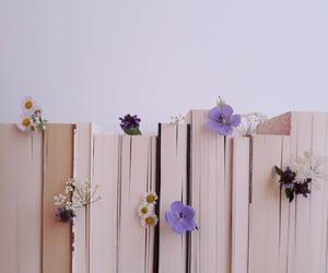 aesthetics, books, and flowers image