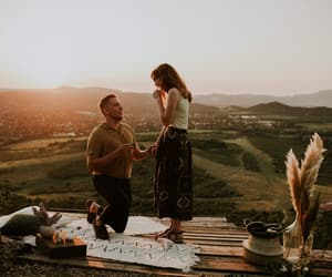 bohemian, sunset, and engagement image