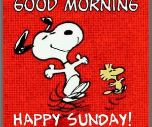 snoopy and sunday morning image