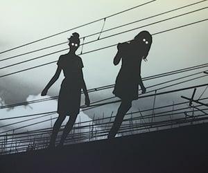 dark and black and white image