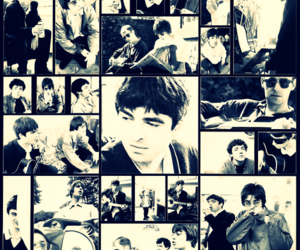 liam gallagher, noel gallagher, and live forever image