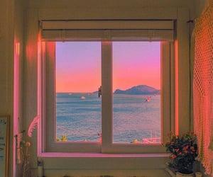 window, aesthetic, and sunset image
