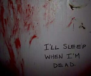 sleep, dead, and blood image