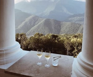 travel, mountains, and drink image