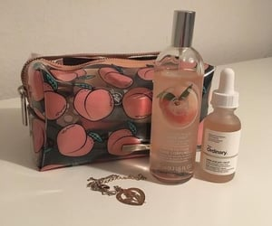 aesthetic, peach, and makeup image