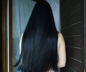 beauty, black, and hair image