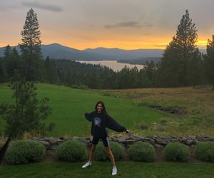 kendall jenner, girl, and sunset image