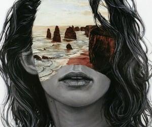 girl, art, and woman image