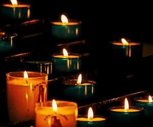 beautiful, candles, and Darkness image