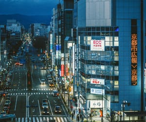 city, japan, and city lights image