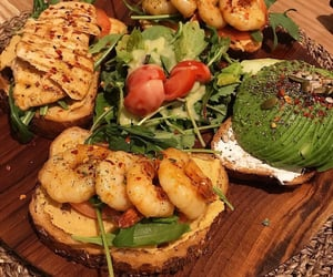 avocado, cheese, and salad image