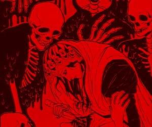 skeleton, skull, and death image