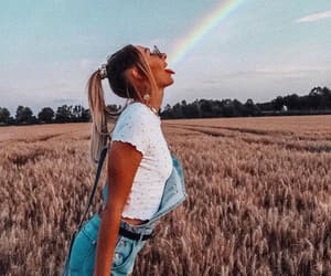 boho, indie, and rainbow image