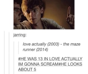 age, thomas brodie-sangster, and love actually image