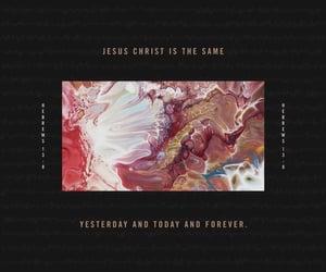 Christ, forever, and god image