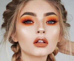 makeup, orange, and make up image