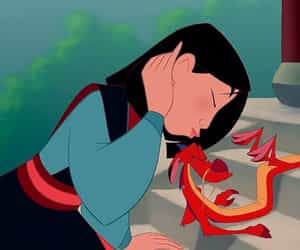 mulan, disney, and cartoon image