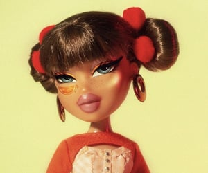 bratz, doll, and orange image