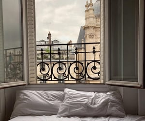 view, bed, and aesthetic image