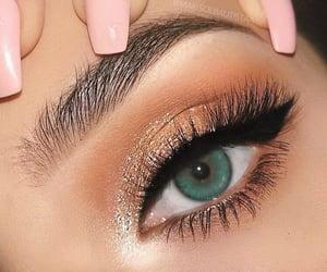 blue, eye, and fashion image