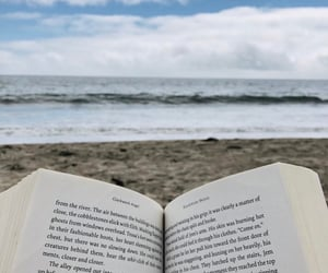 beach, books, and read image