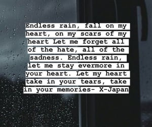 rain, x-japan, and sad image