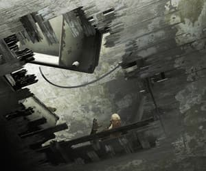 broken, ceiling, and floor image
