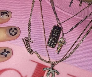 pink, aesthetic, and jewelry image