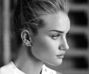 model, black and white, and beauty image