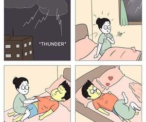 bye, couple, and lightning image