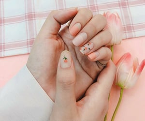 manicure, nails, and cute nails image