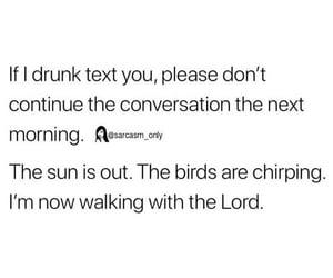 drunk, morning, and sarcasm image