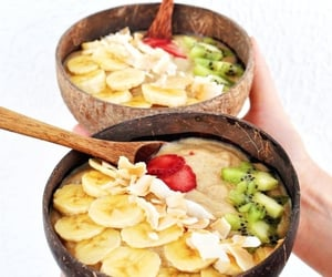 apple, bowl, and breakfast image