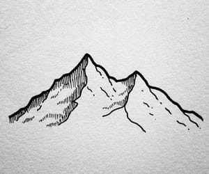 mountain, draw, and art image