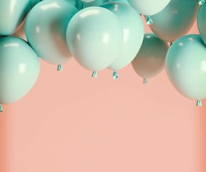 wallpaper, balloons, and pink image