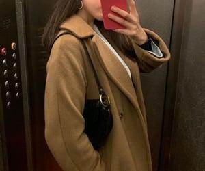 coat, winter fashion, and wool coat image