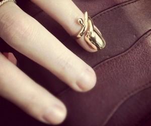 gold, nail ring, and nail image