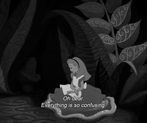 aesthetic, alice in wonderland, and black and white image