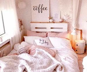 bed, dream room, and pink image