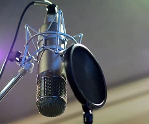 microphone, music, and aesthetic image