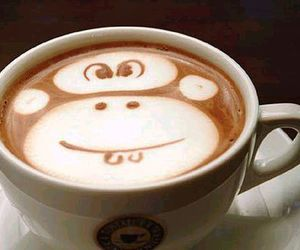 monkey and coffee image