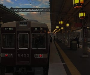 aesthetic, train, and theme image
