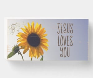 faith, sunflowers, and jesus loves you image