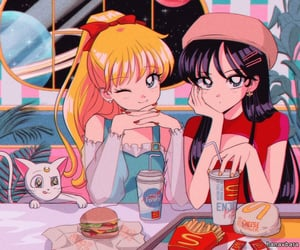 anime, 90s, and fast food image